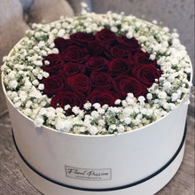 Preserved Roses & Baby Breath's Flower Box