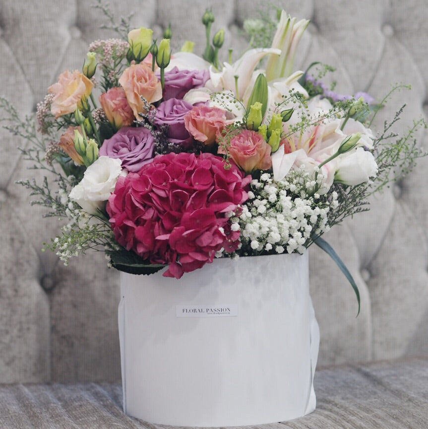 Blooms of Love - Hydrangeas, Lily, Roses, Eustomas