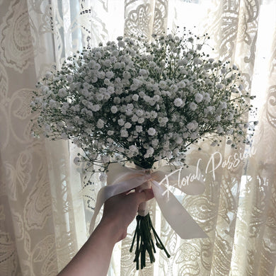 Baby's breath hand bouquet