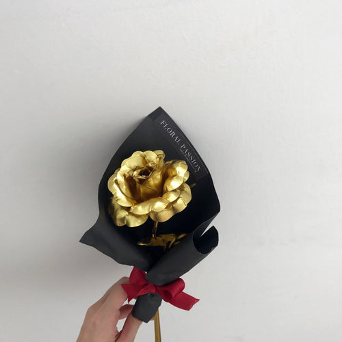 Artificial Single Stalk Gold Rose
