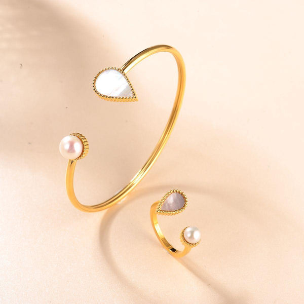 DROP BANGLE GOLD | DROP COLLECTION | DROP BANGLE SILVER | DROP RING ROSE GOLD | MINIMALIST.AE