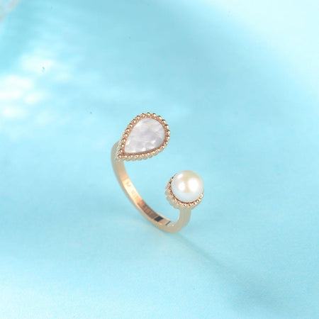 DROP RING ROSE GOLD  | DROP COLLECTION | MINIMALIST.AE