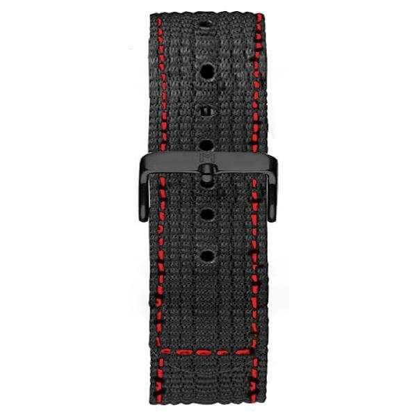 Chrono Strap / Black Red Nylon - MINIMALIST
