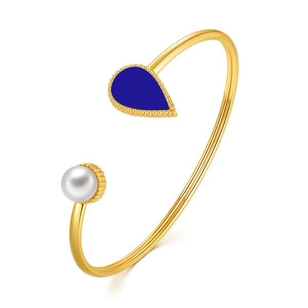 Sapphire Drop / Bangle Gold