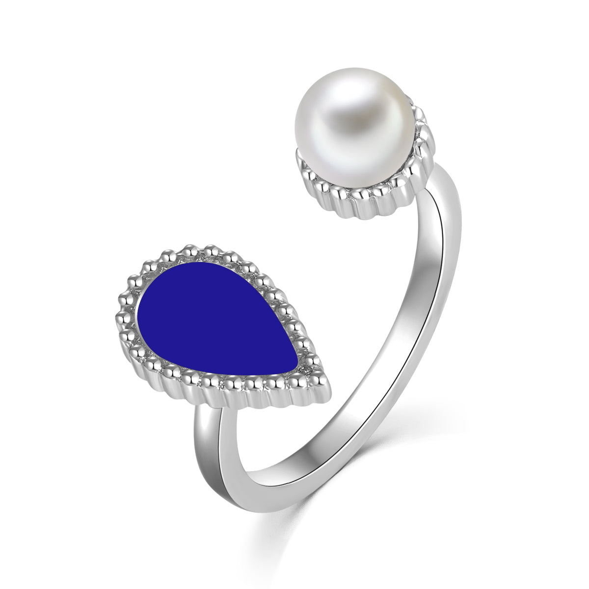 Sapphire Drop / Ring Silver