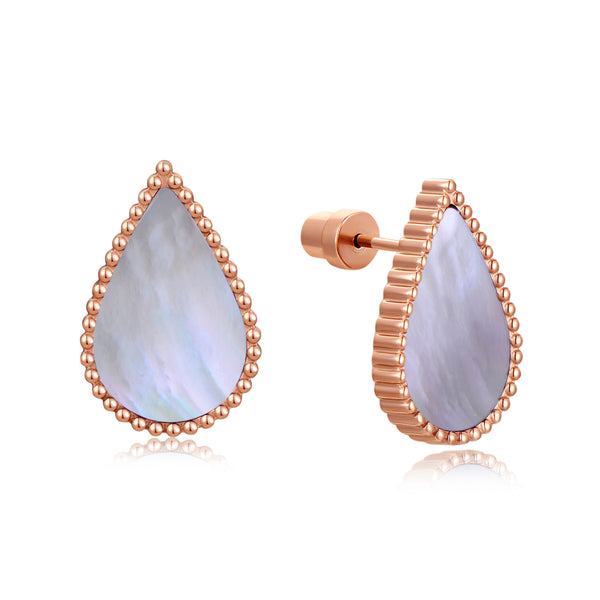 Pearl Drop / Earrings Rose Gold
