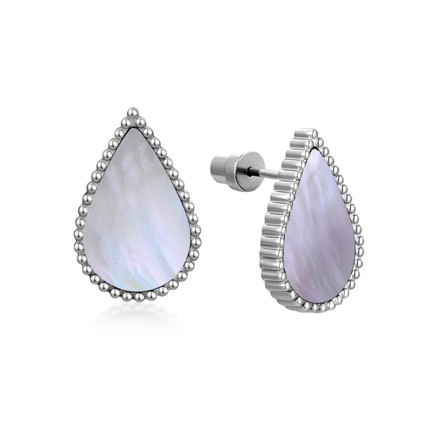 Pearl Drop / Earrings Silver
