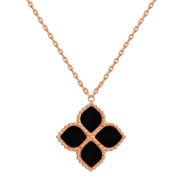 Joory / Necklace  Black Rose Gold - MINIMALIST