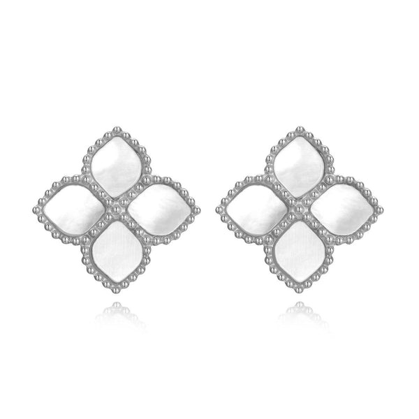 Joory / Earrings Pearl Silver - MINIMALIST