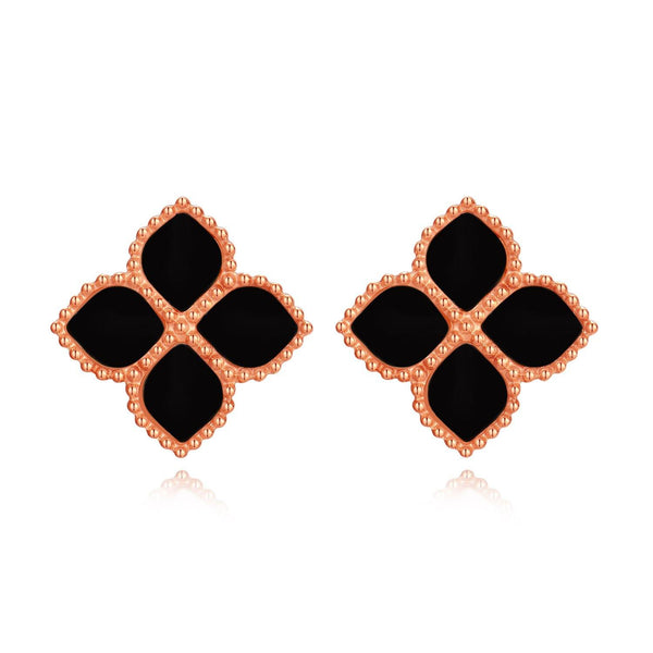 Joory / Earrings Black Rose Gold - MINIMALIST