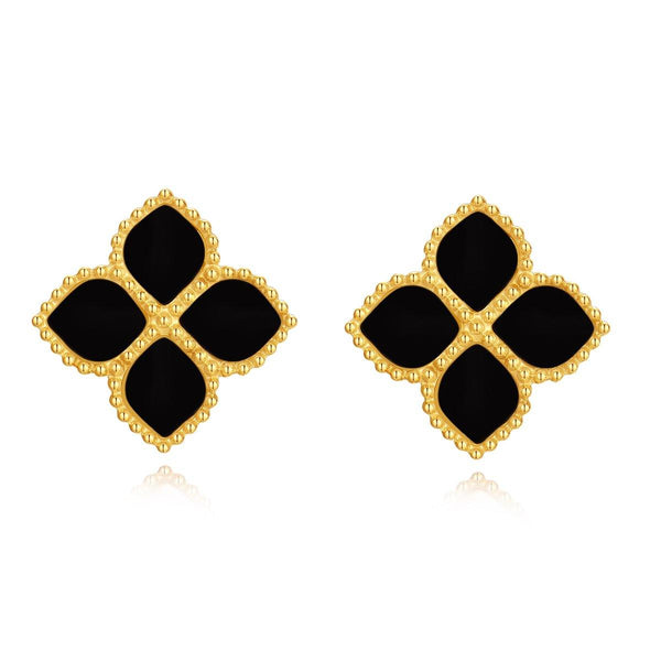 Joory / Earrings Black Gold - MINIMALIST