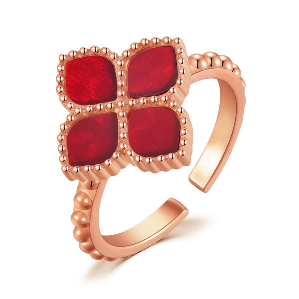 Joory / Ring Red Rose Gold - MINIMALIST