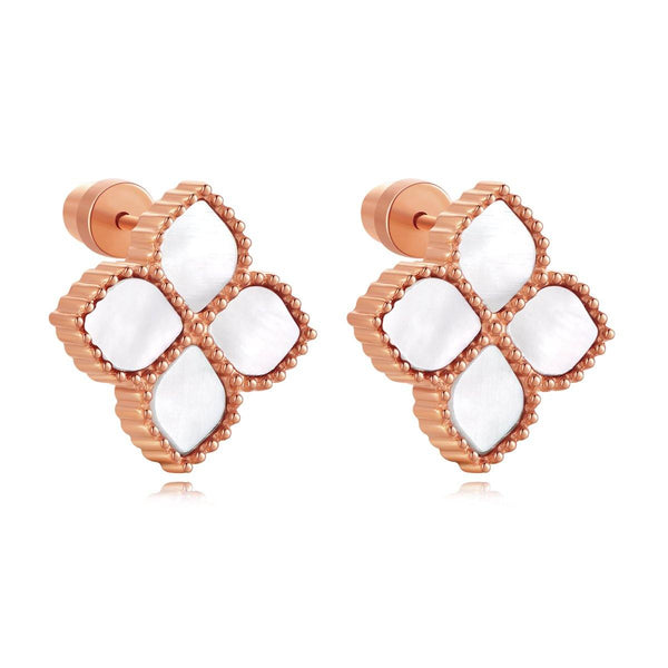 Joory / Earrings Pearl Rose Gold - MINIMALIST