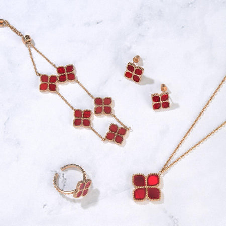 Joory / Necklace Red Rose Gold - MINIMALIST