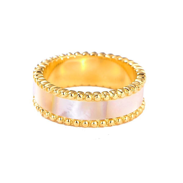 Lulwah Ring / Pearl Gold ( Size 6 ) - minimalistae