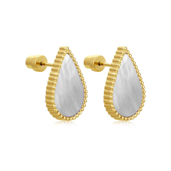 Pearl Drop / Earrings Gold