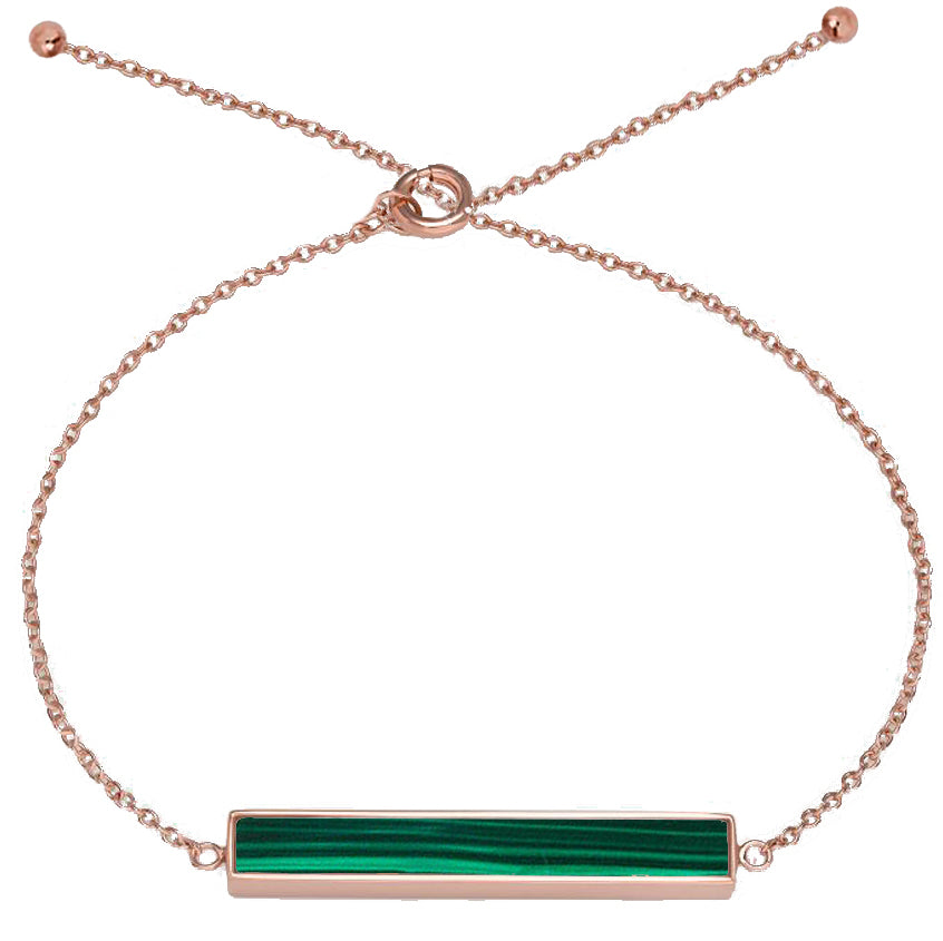 Zeina / Malachite Rose Gold - minimalistae
