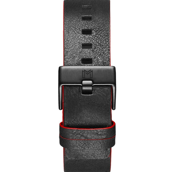 Titanium Strap / Red & Black Leather - minimalistae