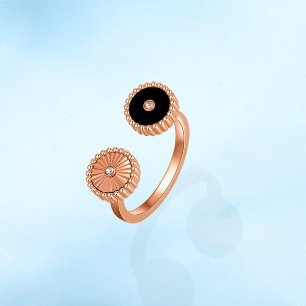 Kanz / Ring Black Rose Gold - MINIMALIST
