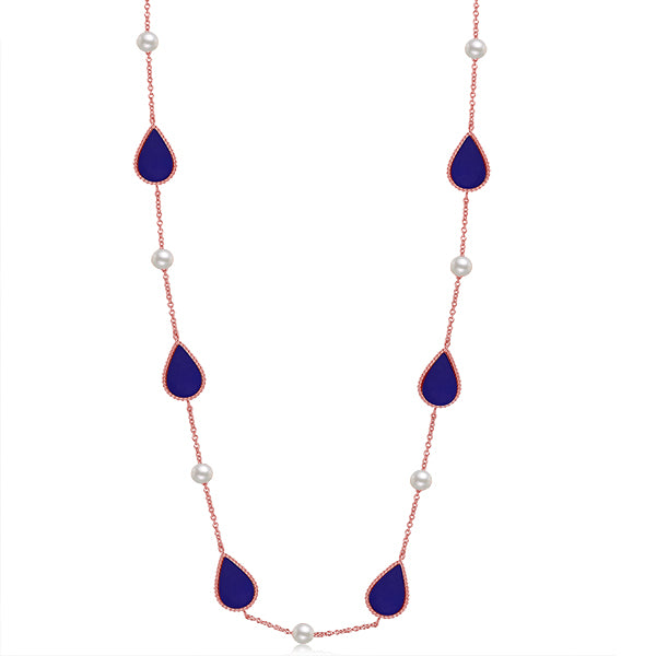 Sapphire Drop / Necklace Rose Gold