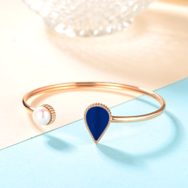 Sapphire Drop / Bangle Rose Gold