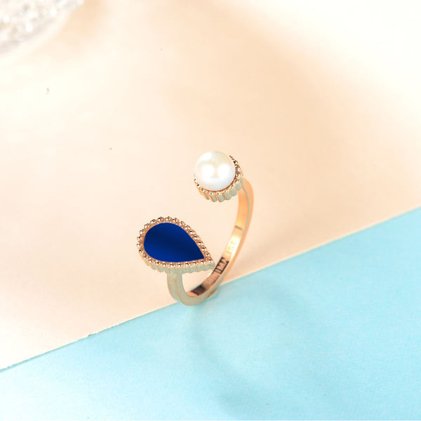 Sapphire Drop / Ring Rose Gold