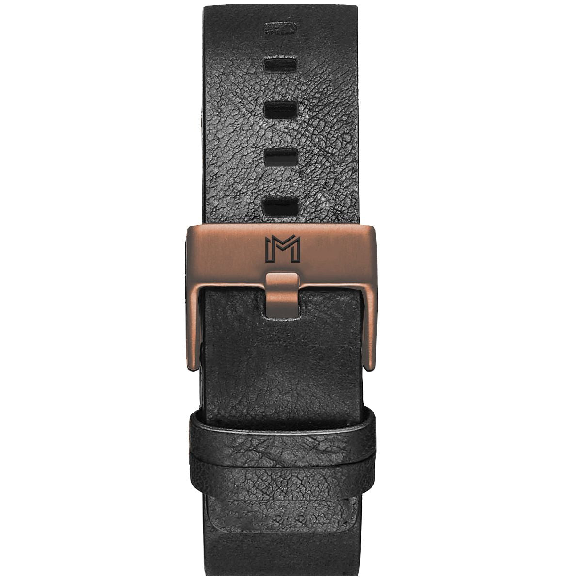 Titanium Strap / Black Leather - Rose Gold Buckle - minimalistae