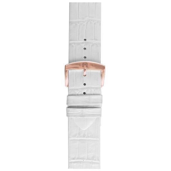 ALMAS Strap / White Leather Strap 18mm - minimalistae