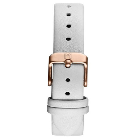 Rose Strap / White Leather - Rose Gold Buckle - minimalistae