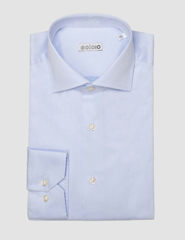 Camisa Cuello Italiano y Puño Normal. Disponible en Blanco y Azul