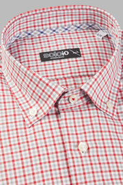 Camisa button down tartan rojo