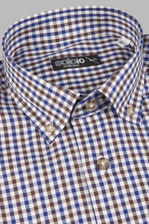 Camisa botton down cuadros marrones