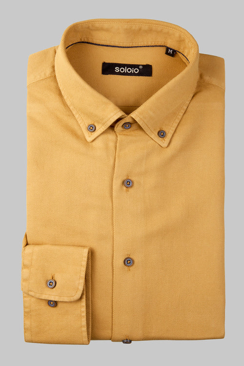 Camisa lisa beige botton down