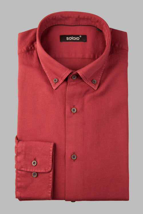 Camisa lisa granate botton down