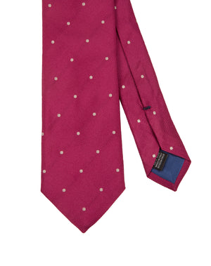 Corbata Collection Pois Fucsia Beige