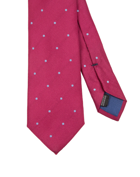 Corbata Collection Pois Fucsia Celeste