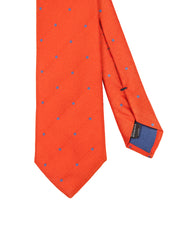 Corbata Collection Pois Naranja Celeste