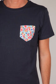 Camiseta de Bolsillo Estampado Bouquet