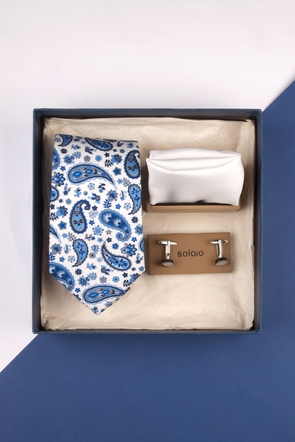 PREMIUM BOX NOVIO PAYSLEY AZUL