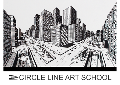 Digital Download: City in 2-Point Perspective: Episode 200: Circle Line Art School
