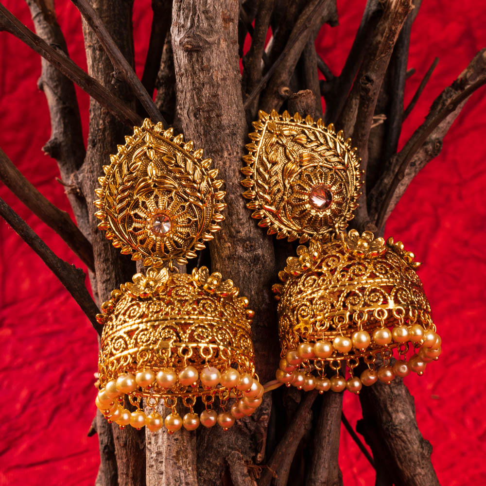How to style Jhumkas with western wear