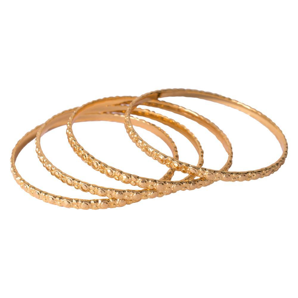 Sparkly gold plated bangles