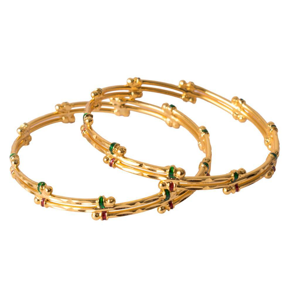 Delicate gold bangles