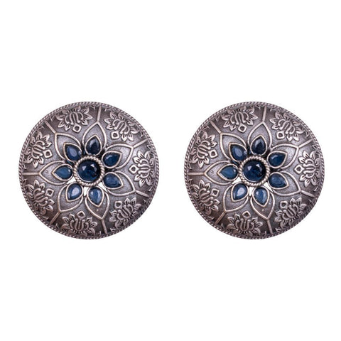 Circular carved earrings