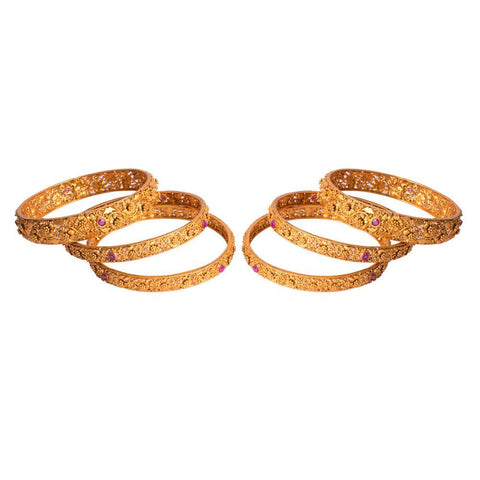 Stylish gold plated bangle set