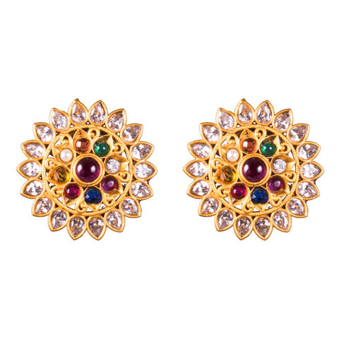 Sparkling Belle Navaratna Earrings