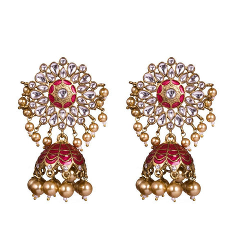 Semi precious elaborate earrings
