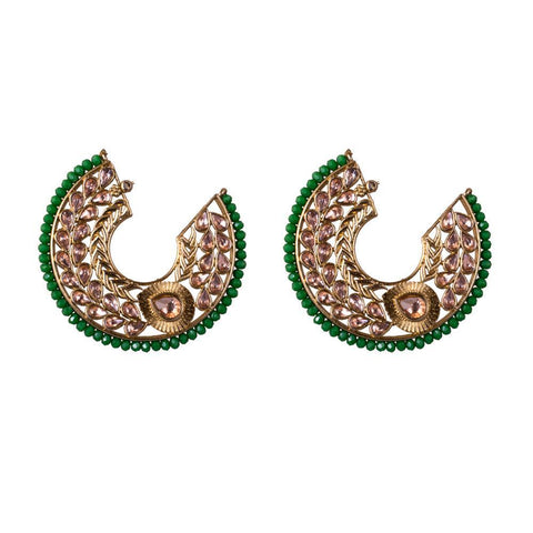 Semi circular glam earrings