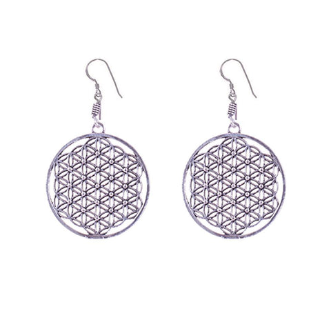 Exotic finish and patterned earrings