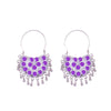 Light Purple Painted Chandbali Earrings